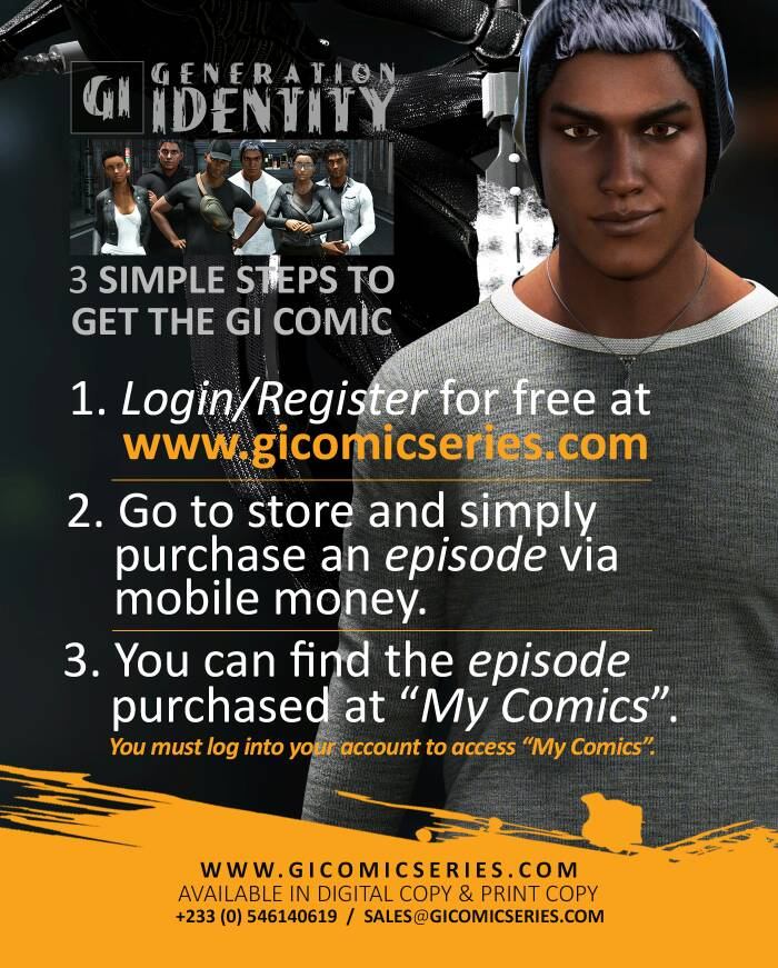 Three simple steps to get the comic